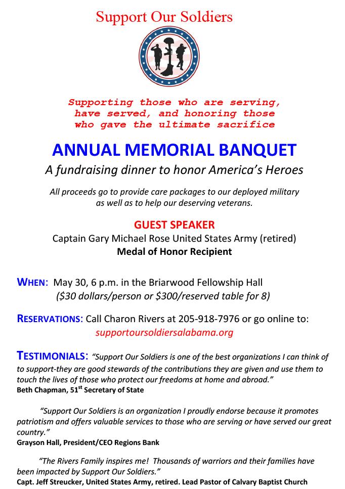 Memorial Day Dinner - Briarwood Presbyterian Church, PCA